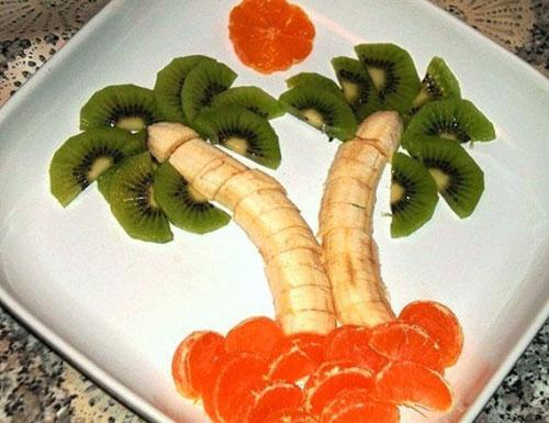 Тарелка с фруктами как украсить